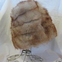 Vintage Ultra Fluffy Genuine Tuscan Lamb Fur Hat Bucket Style  23