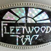 Vintage Unbranded 70's 80's Prism Hologram Sticker Fleetwood Mac Belt Buckle Photo