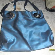 Vintage Unique Rare Shiny Blue & Silver Xoxo Purse Handbag Photo