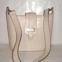 Vintage Unique & Rare Ted Lapidus Beige Croc Shoulder Bag Photo