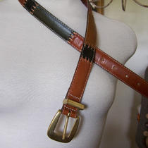 Vintage Unisex Fossil Rainbow Colored Leather Belt Skinny Thin Small Cost 30.00 Photo