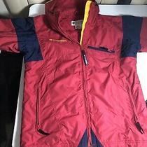 Vintage Unisex Womens S/mens M Red Blue Yellow Columbia Sport Coat Photo