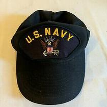 Vintage Us Navy Eagle Patch Snapback Hat Cap Navy Blue Photo