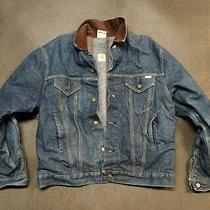 Vintage Usa Carhartt 8bwjp Denim Blanket Lined Trucker Blue Jean Jacket Mens 46 Photo