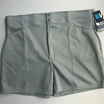 Vintage Usa Voit Gym Coach Shorts Athletic High Cut Gray Mens Xl 40-42 Grey Nwt Photo