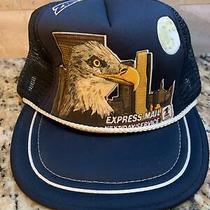 Vintage Usps Snapback Hat Bald Eagle Mesh Trucker Cap Navy Blue Express Mail Vtg Photo