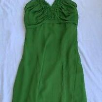 Vintage Valentino Emerald Green Silk Halter Dress (Sooo Major)  42 Photo