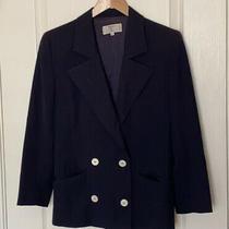 Vintage Valentino Miss v Navy Blazer Wool Sz 8  Photo