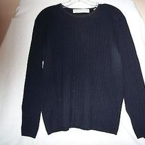 Vintage Valerie Stevens Large Black 100% Cashmere Sweater Photo