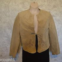 Vintage Valerie Stevens Separates Leather Suede Tan Jacket Sz  M   249 Photo