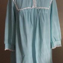 Vintage Van Raalte Aqua Gown and Robe Set Petite Photo