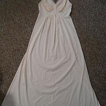 Vintage Vanity Fair Long Nylon Gown Size 34 Champagne Blush Pink Cream Photo