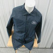 Vintage Vans Off the Wall Logo Coach Blue Large Button Up Jacket Skateboarding  Photo