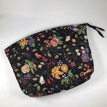 Vintage Vera Bradley Tavern on the Green Makeup Travel Toiletries Bag Clutch Photo
