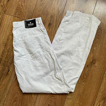 Vintage Versace Off White Cotton Straight Leg Pants Trousers W32 L32 Photo