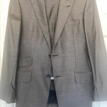 Vintage Versace Slate Gray Wool and Silk Suit Size Eur 48 Photo