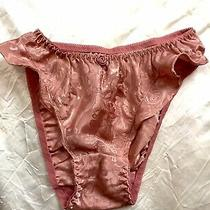 Vintage Victorias Secret Gold Label Satin Dusty Rose Flutter Panties Xxs/3 Photo