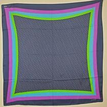 Vintage Vineyard Vines Silk Scarf Geometric Blue Purple Green 35