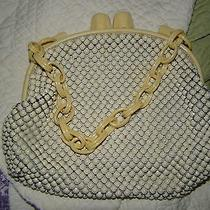 Vintage Vintage Vintage Whiting and Davis Co Ivory Mesh Bag Photo