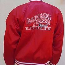 Vintage Wear Guard Red Satin Jacket Size L Usa  California Sierra Express Retro Photo