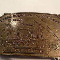 Vintage Wells Fargo and Company Prometheus Belt Buckle Brass Tiffany New York Photo