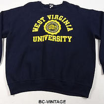 Vintage West Virginia Mountaineers Crest Jansport Usa Sweatshirt 50/50 Xxl 21335 Photo