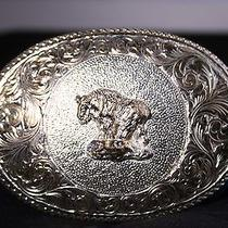 Vintage Western Cowboy Cowgirl Bison American Buffalo Crumrine Belt Buckle Photo