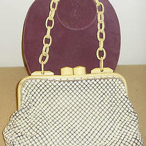 Vintage Whiting and Davis Alumesh Purse W/ Bakelite Frame and Celluloid Handles Photo