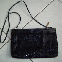 Vintage Whiting and Davis Black Metal Mesh Purse Handbag Removable Strap Clutch Photo
