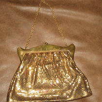 Vintage Whiting and Davis Co Gold Metalic Purse Photo