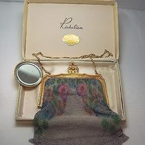 Vintage Whiting and Davis Dresden Mesh Hand Painted Purse With Mirror  Photo