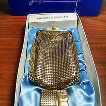 Vintage Whiting and Davis Gold Mesh Cigarette Case and Lighter Set in Box Photo