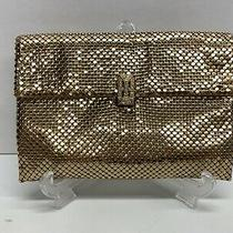 Vintage Whiting and Davis Gold Mesh Clutch With Jeweled Clasp Photo