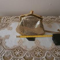Vintage Whiting and Davis Gold Mesh Purse Excellent Condition Preowned Photo