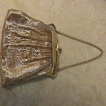 Vintage Whiting and Davis Gold Mesh Purse - Excellent - Evening Bag Photo