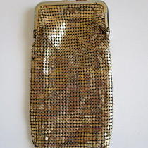 Vintage Whiting and Davis Gold Metal Mesh Eye Glasses Case/cigarette Case Purse Photo