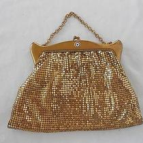 Vintage Whiting and Davis Gold Purse Metal Mesh American Legion Insignia  Photo