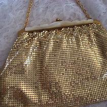 Vintage Whiting and Davis Gold Purse With Mother of Pearl Photo