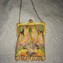 Vintage Whiting and Davis Mesh Purse With Art Detail Photo