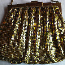 Vintage Whiting and Davis Metal Gold Metallic Evening Purse Photo