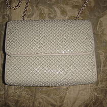 Vintage Whiting and Davis Off White Mesh Purse Handbag Photo
