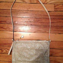 Vintage Whiting and Davis  Off-White Mesh Shoulderbag   Made in Usa Photo