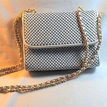 Vintagewhiting and Davis Off White Metal Mesh Gold Accents Photo