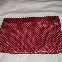 Vintage Whiting and Davis Red Clutch Mesh Handbag Bag  Photo