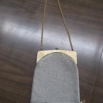 Vintage Whiting and Davis White Gold Mesh Flapper Handbag Art Deco Photo