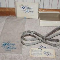 Vintage Whiting and Davis Womens Silver-Tone Mesh Buckle Belt W/ Box & Card  Photo