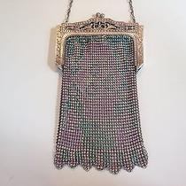 Vintage Whiting & Davis Art Deco Enamel Mesh Evening Bag or Clutch Photo