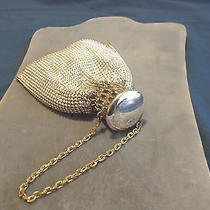 Vintage Whiting & Davis Art Deco Silver Metal Mesh  Eveing Bag Gate Top Photo