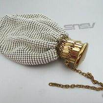 Vintage Whiting & Davis Art Deco White Mesh Bag Wristlet Coin Purse Gate Closure Photo