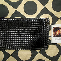 Vintage Whiting & Davis Black Mesh Formal Clutch Purse Unused W/product Card Photo